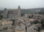 The Orvieto duomo and skyline of Orvieto