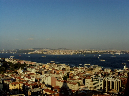 Galata Tower's view of the Istanbul skyline.