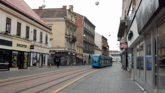We made it to Zagreb, too! Ilica Street on the way to the main square.
