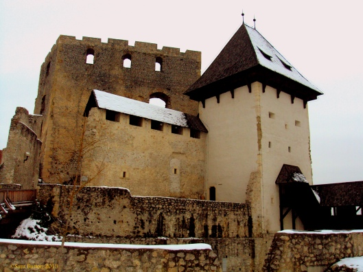 Part of the fortress at Celje Castle.