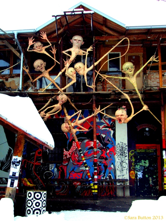 This is one of the many brilliant and evolving pieces of structural art at Metelkova Mesto. It really is a place that you just have to see to believe!