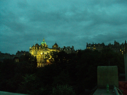 Edinburgh at night.