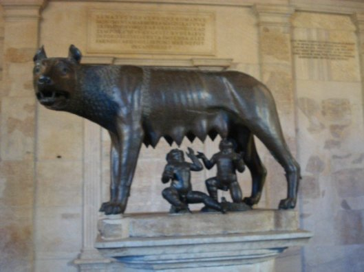 A blurry shot I took during study abroad in 2007. The caption from my Facebook album reads: CAPITOLINE WOLF OMG.  I fully embrace my classics nerd self.