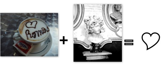 Rome + Bernini=Love. (Featuring cappucino from a Termini-area cafe and Bernini's Medusa).