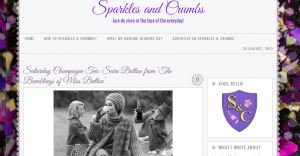 Check out my interview on Sparkles & Crumbs!